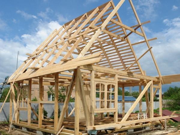 как построить каркасный дачный домик фото