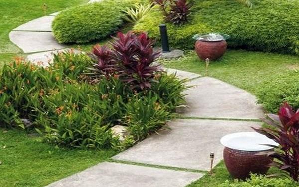 как правильно сделать садовую дорожку из бетона фото