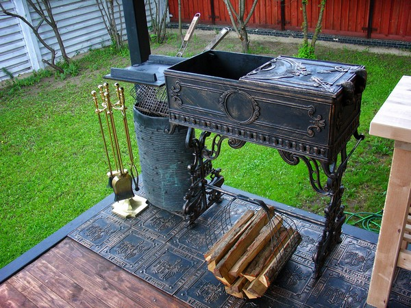 печь мангал для дачи своими руками фото