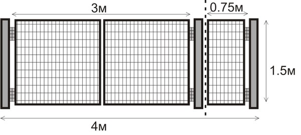 распашные ворота для дачи с калиткой фото