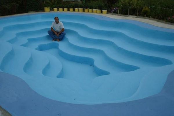 самодельный бассейн на даче фото