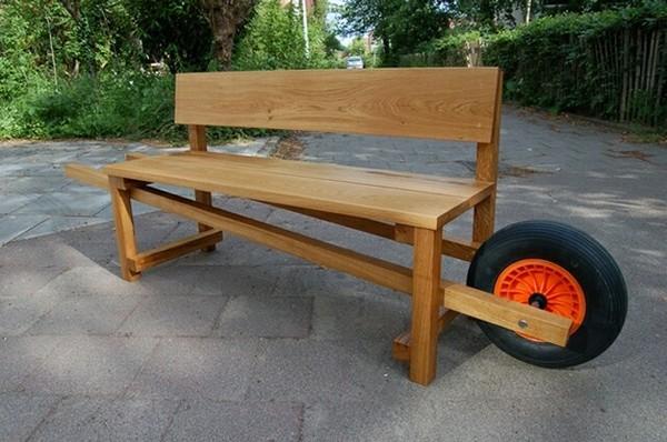 скамейка для дачи своими руками фото