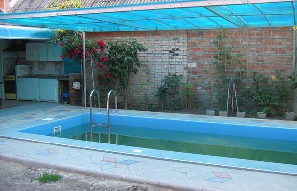 навес для бассейна фото