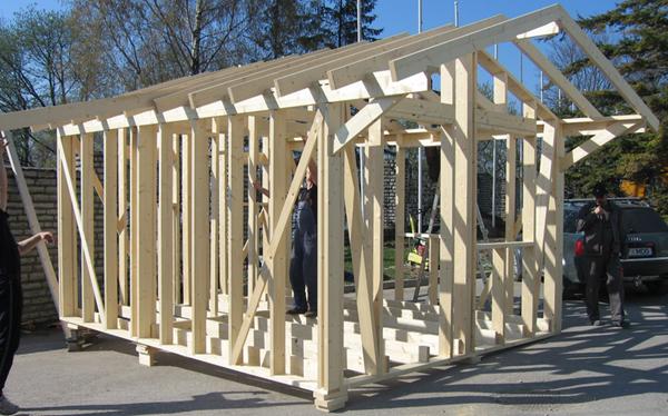 строительство сарая на даче своими руками фото