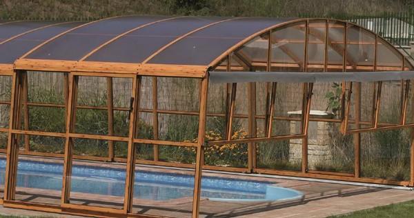 деревянный павильон для бассейна фото