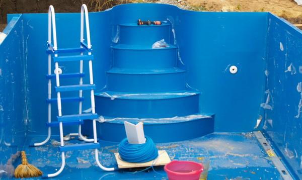 лестница для каркасного бассейна фото