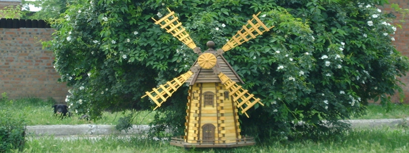 Декоративная мельница своими руками: из чего и как изготовить