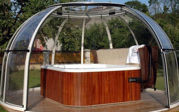 павильон для круглого бассейна фото