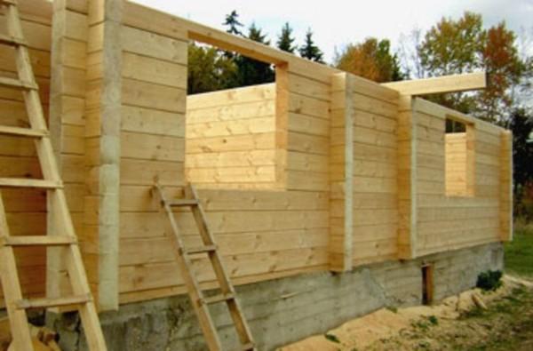как построить деревянный дачный дом фото