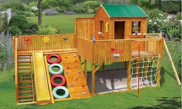 домик для ребенка на даче своими руками фото