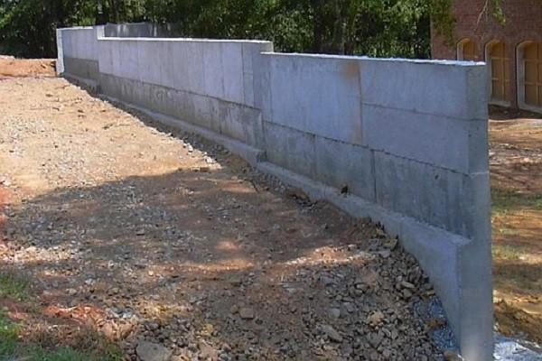 подпорная стенка из бетона фото