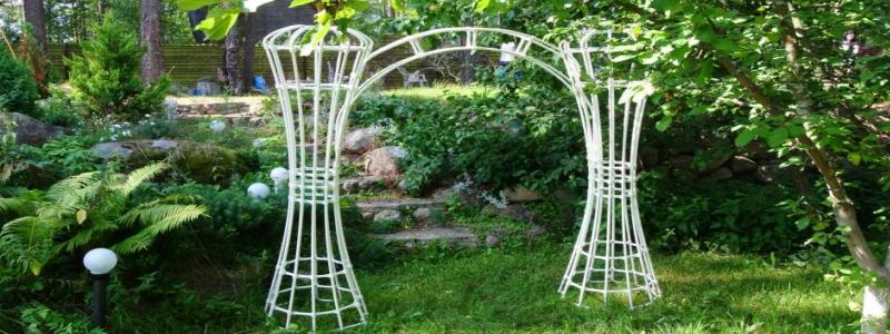 Садовая арка: из чего и как изготовить своими руками