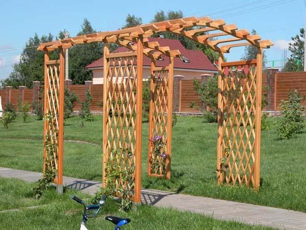 садовые деревянные арки фото