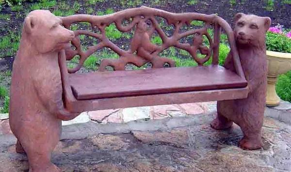 скамейка из дерева своими руками фото
