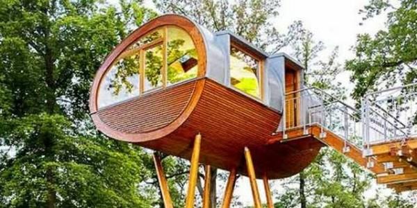 строительство домика на дереве фото