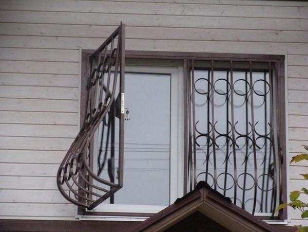 раздвижные решетки на окна для дачи фото