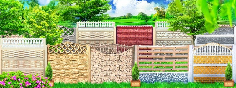 Бетонный забор: самостоятельное изготовление