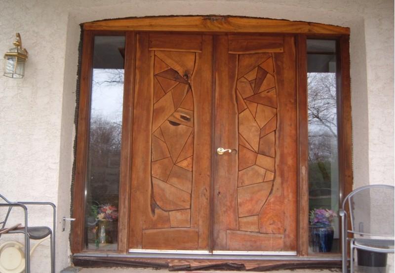 дверь входная уличная утепленная деревянная фото