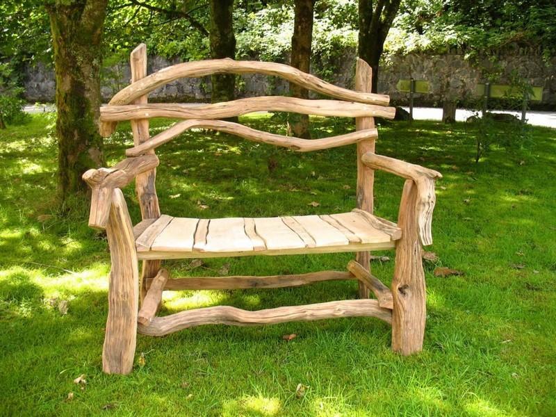 Садовая мебель из бревен своими руками фото
