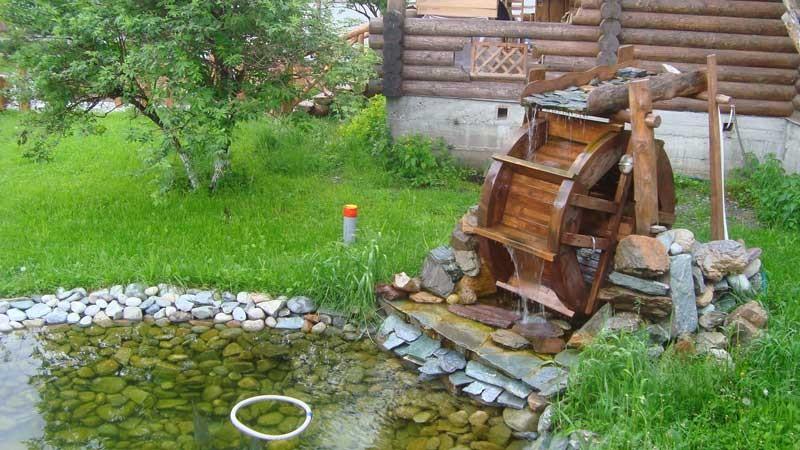 как сделать водяную мельницу фото