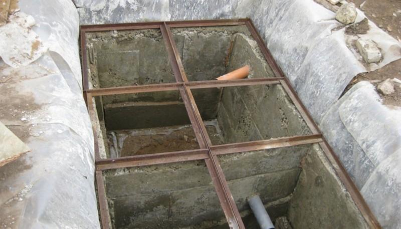 монтаж бетонного септика фото