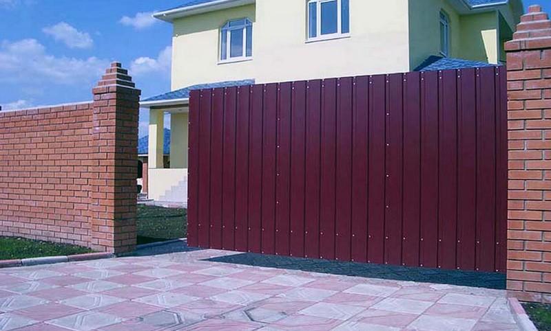 откатные ворота для дачи фото