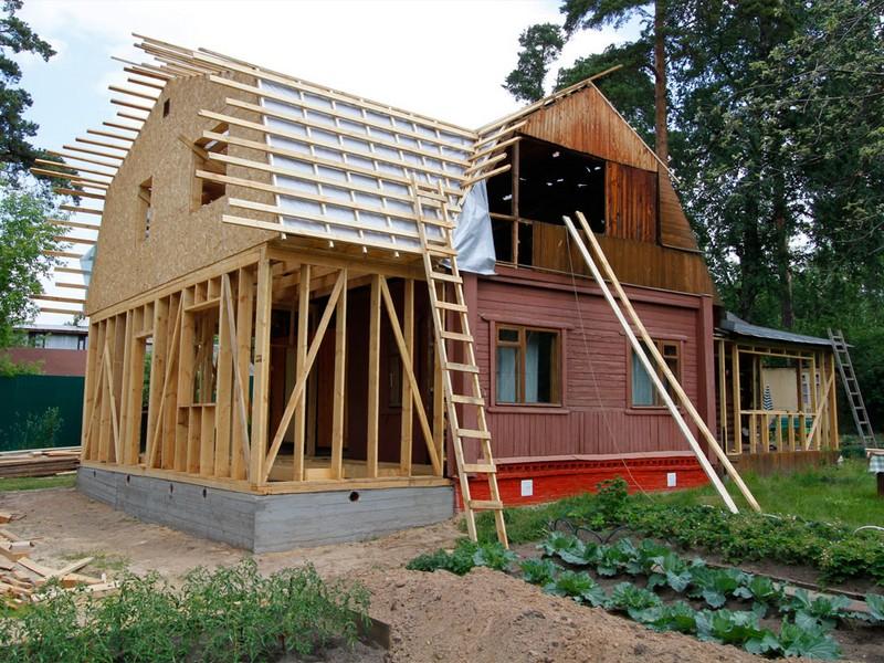 достройка и реконструкция дачного дома фото