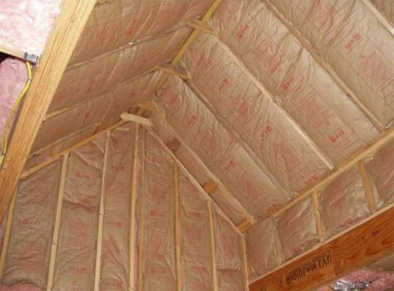 как утеплить потолок в бане минватой фото