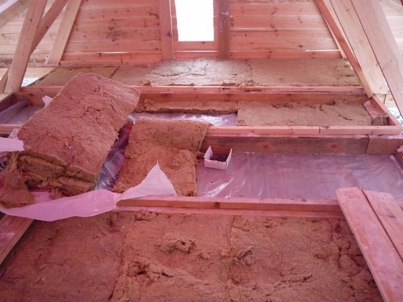 как утеплить потолок в бане своими руками фото