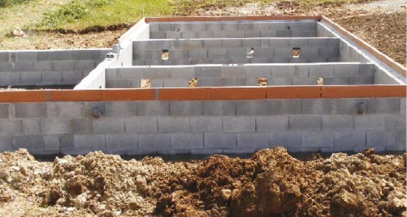 фундамент для бани из блоков фото