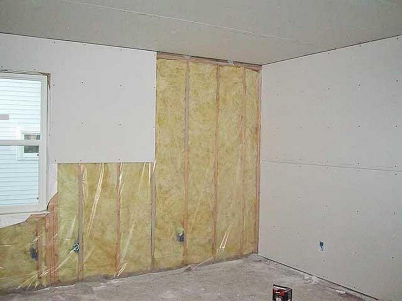 отделка стен гипсокартоном на даче фото