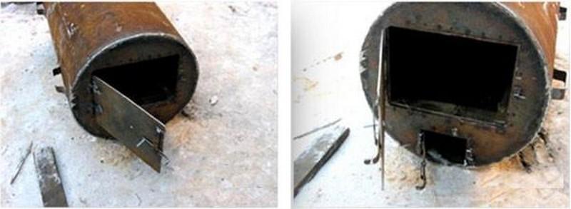 печь для бани из трубы своими руками фото