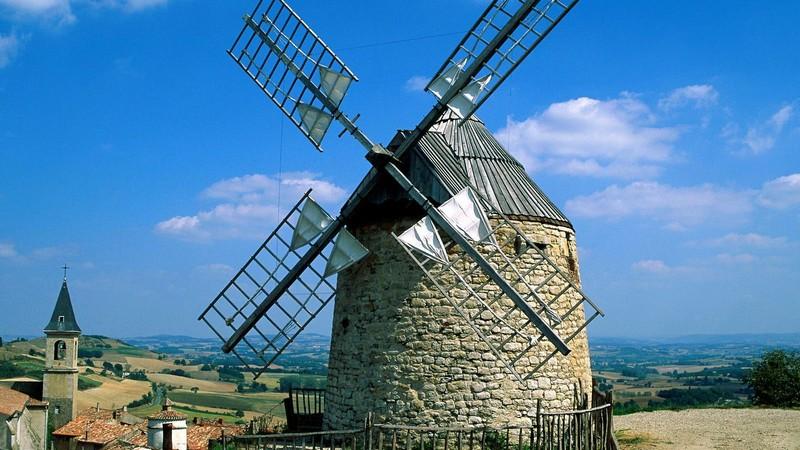 ветряная мельница своими руками фото
