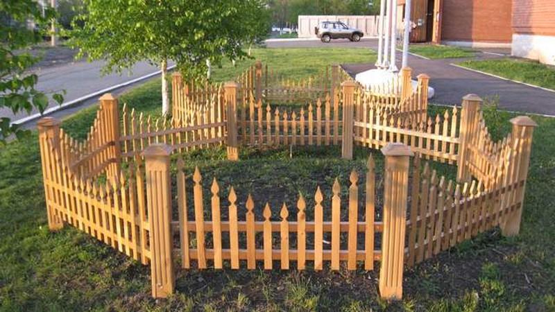 забор для палисадника деревянный фото