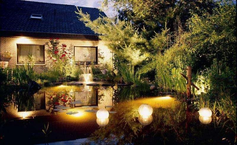 декоративное освещение садового участка фото