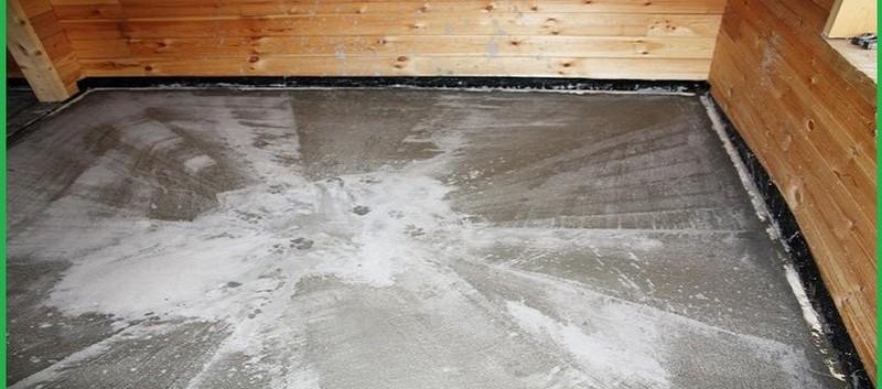 бетонный пол в деревянной бане фото