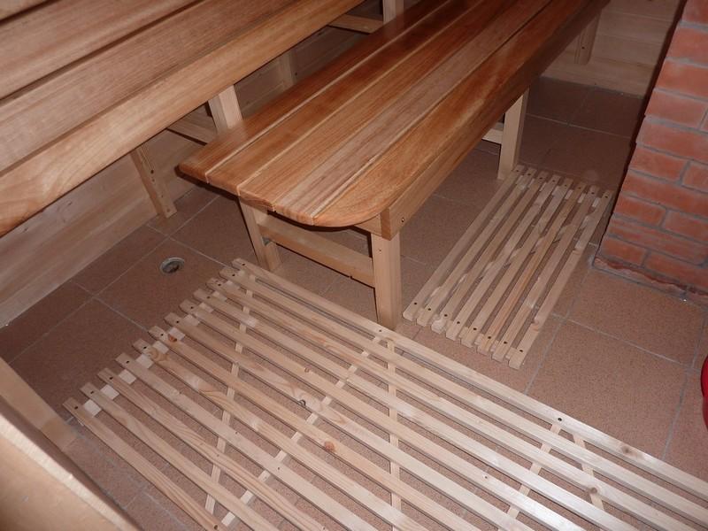 как залить бетонный пол в бане фото