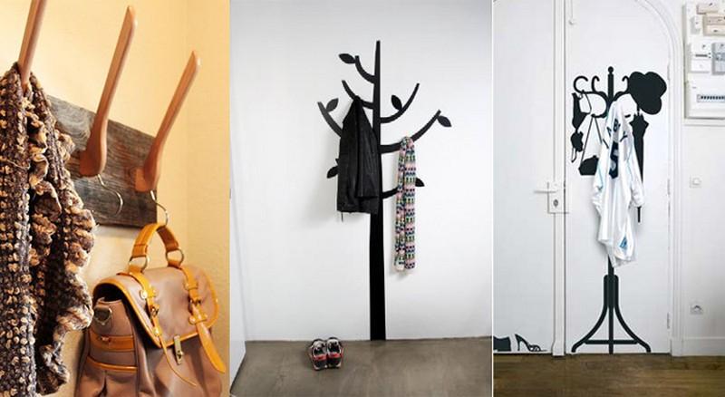 вешалка для одежды настенная своими руками фото