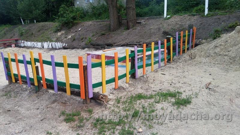 декоративный забор для детской площадки фото