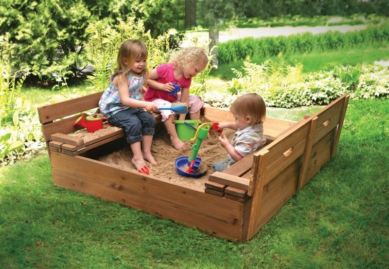 детская деревянная площадка для дачи своими руками фото