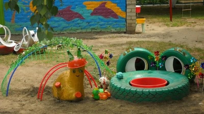 детская площадка для дачи своими руками фото