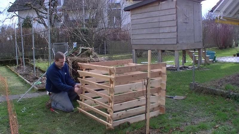 как построить ящик для компоста фото