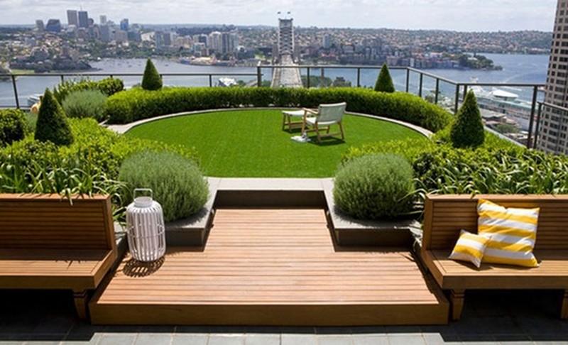 летний сад на крыше фото