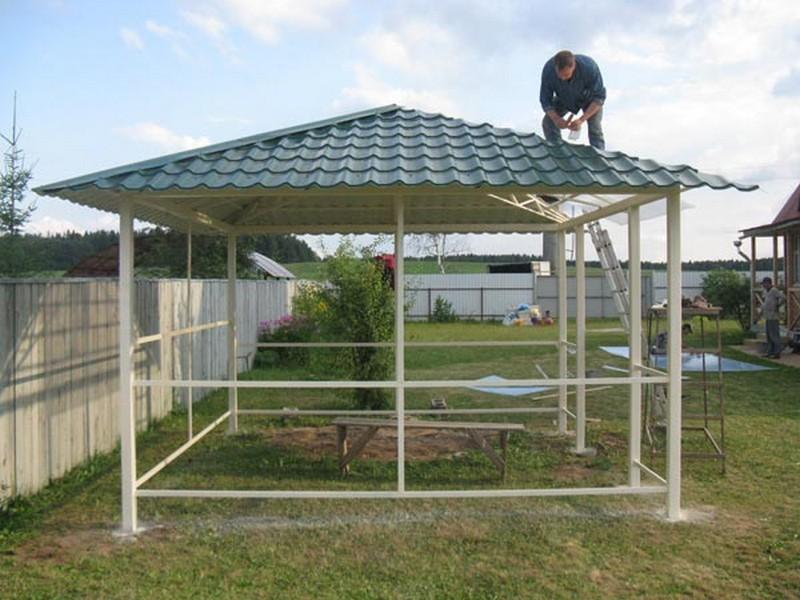 крыша металлической беседки фото