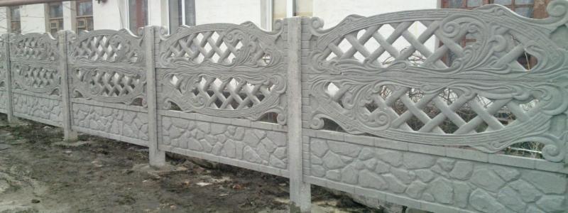 Декоративные бетонные заборы: как установить еврозабор на даче