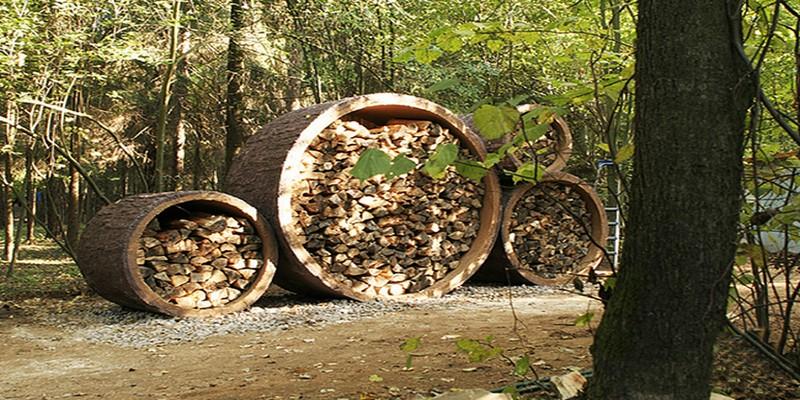 как построить навес для дров фото
