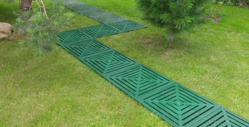 пластиковая плитка для садовых дорожек фото