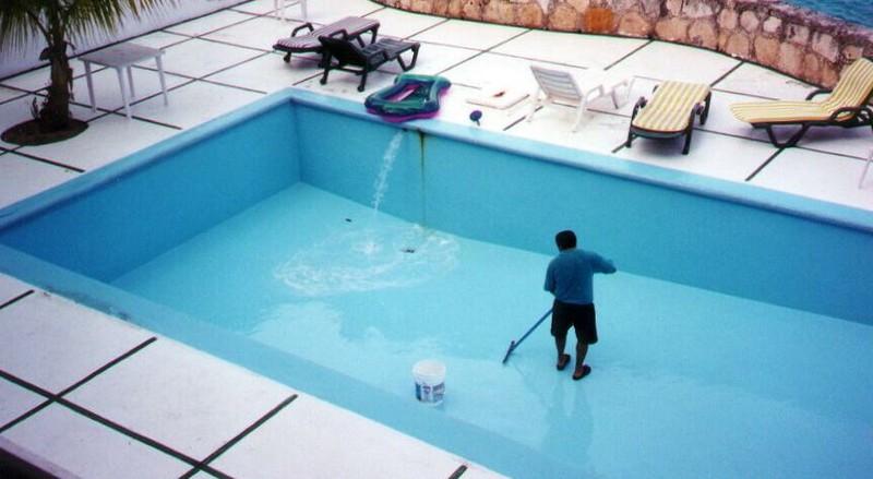как законсервировать бассейн на зиму фото