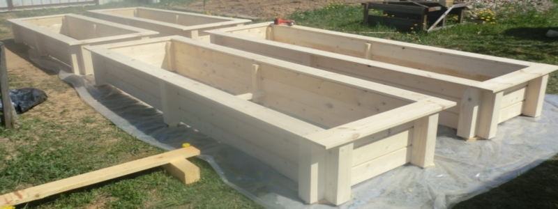 Грядки из досок: самостоятельное изготовление на даче