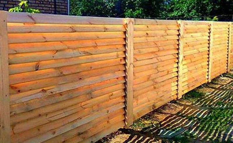 забор жалюзи деревянный своими руками фото